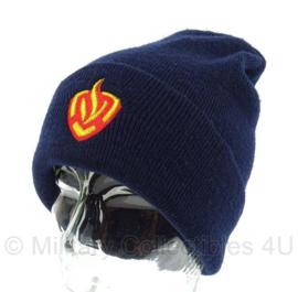 Brandweer karzerne tenue muts - huidig model met logo - one size - origineel