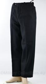 NS Nederlandse Spoorwegen Machinisten broek met groene bies - maat 80 cm. omtrek en 75 cm. binnenbeenlegte - origineel