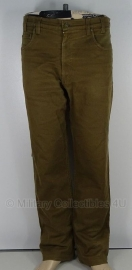 Polizei - sportieve broek (spijkerstof) - bruin - origineel - meerdere maten