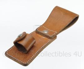 Leger baton koppel houder - bruin leer - origineel