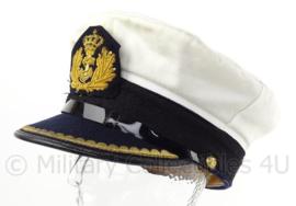 KM Koninklijke Marine pet officier - met embroidered embleem - wit - maat 57 - origineel