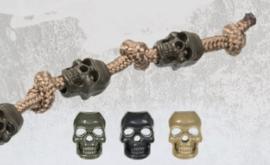 Koordstopper Skull doodskop Black  (zonder veer) - 10 STUKS
