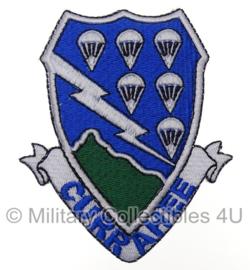US 506th PIR - Currahee - uniform embleem stof - 10,2 x 8,3 cm.