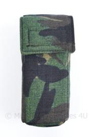 Proefmodel Nederlandse leger woodland tas - 16x7x6 cm - origineel