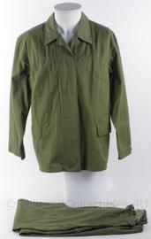 Duitse DDR werk uniform jas met broek - maat 50k - origineel