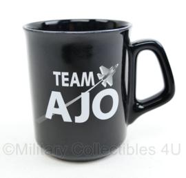 Klu Luchtmacht beker Team AJO Afdeling Jachtvlieg Operaties  - 9,5 x 8 cm - nieuw -  origineel