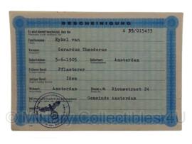 Stalag tewerkstelling - Nederlandse krijgsgevangene - Gerardus Theodorus van Eykel Amsterdam