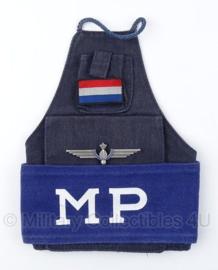 KMAR MP armband met zeldzaam district Schiphol brevet - origineel