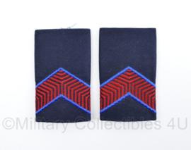 KMAR Koninklijke Marechaussee epauletten schouderstukken set donkerblauw - Marechaussee 3e klasse - origineel