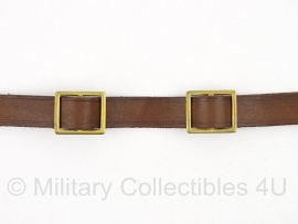 Duitse bruine M16 helm en Pickelhaube kinriem - messing delen - topkwaliteit