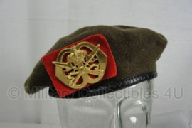 KL Nederlandse leger KMS Koninklijke Militaire School baret met insigne - maat 57, 58, 59 of 61 - origineel