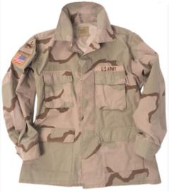 US en USAF BDU DESERT uniform jas - MET insignes! - meerdere maten - origineel