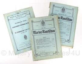 Marine Rundschau boeken set 1907 - set van 3 - origineel