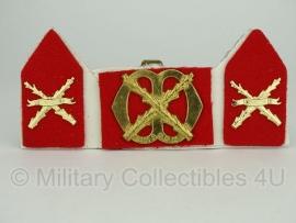 KL baret speld en kraagspiegel set - Regiment Infanterie Chasse  - origineel