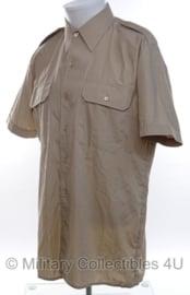 Nederlands leger Khaki DT Overhemd KORTE MOUW - maat 37 tm. 43 - origineel