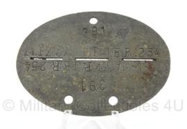 WO2 Duitse erkennungsmarke - PanzerJager Kompanie van Inf Ersatz Regiment 254  - persoonsnummer 391 - origineel