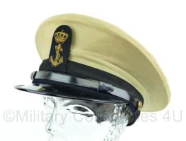 Platte pet van de Koninklijke Marine , khaki tropen tenue - Maat 55 - Origineel