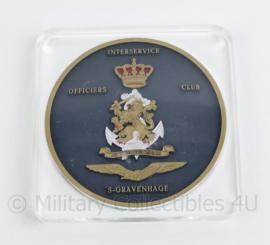 Defensie Wandbord Interservice Officiers club 's-Gravenhage - 13 x 13 x 1,5 cm - origineel