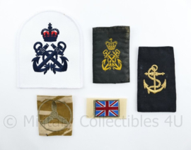 Britse Royal Navy embleem set - 5 delig - origineel