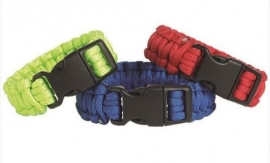 Paracord armband - 22 mm - rood, blauw of felgroen