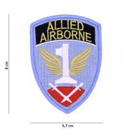 Embleem stof - First Allied Airborne Army - 8 x 5,7 cm