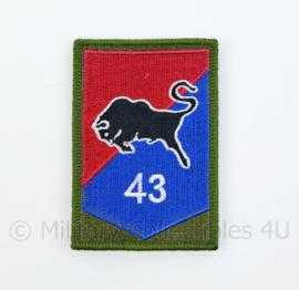 KL Nederlandse leger 43e Gemechaniseerde Brigade GVT embleem - met klittenband - 8 x 5,5 cm