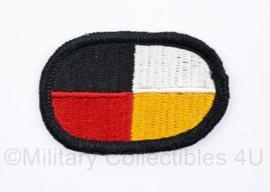 US Army naoorlogse oval wing voor op de borst onbekend- zwarte rand zwart wit rood geel - origineel