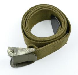 Zware US Army  groene webbing equipment strap  - maker Lite Industries INC - 177 x 5 cm - origineel