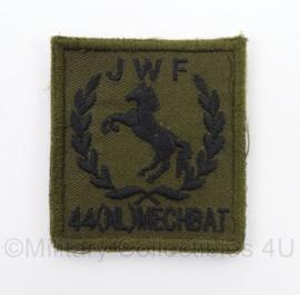 KL Landmacht borst embleem JWF 44 NL MECHBAT - met klittenband - afmeting 5 x 5 cm - origineel