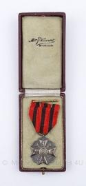 Belgische burgerlijk ereteken zilver medaille met doosje - Origineel