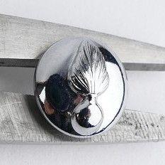 Kmar Marechaussee knoop 16 MM  zilver - origineel