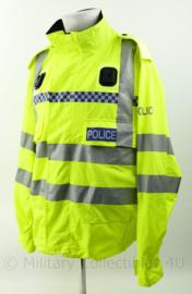 Britse Politie lightweight jacket High Visability met portofoon houders - nieuw met epauletten en met nr van agent - Large Regular - origineel