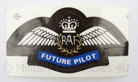 Britse RAF Royal Air Force sticker - Future Pilot - afmeting 11 x 6 cm - origineel