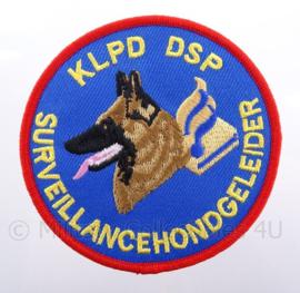 """KLPD DSP Koninklijke Landelijke Politie Dienst embleem - """"serveillance-hondenbrigade"""" - diameter 9 cm"""