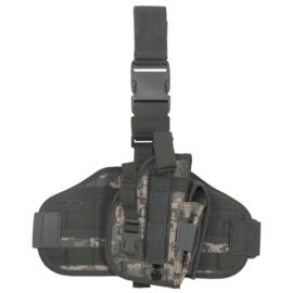 Molle been- en koppel paneel MET verwijderbaar universeel holster - ACU camo