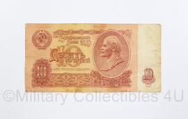 USSR Russisch briefgeld 10 Ruble  uit 1961 met portret Lenin - origineel