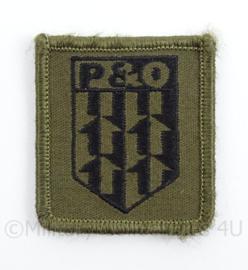 KL Landmacht borst embleem P&O Personeel en Organisatie - met klittenband - afmeting 5 x 5 cm - origineel