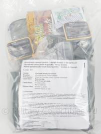 Nederlandse leger 24uurs rantsoen Maaltijd zak 24 Hour Operationeel Rantsoen W (pouch) + OL + energie module ROEK rantsoen +/- 5350 kcal - verschillende menu's! - houdbaar tot 9- 2021