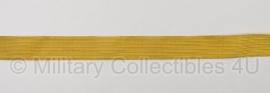Marine mouwband  50mm breed Admiraalsgalon - 2 meter lang - goud