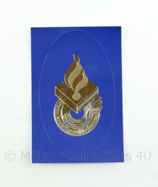 KLPD sticker blauw goud - 9,5 x 6 cm - origineel