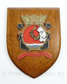 Wandbord Korps Mariniers 1e Mariniers Bataljon AGGP - 19 x 14,5 x 1,5 cm - origineel