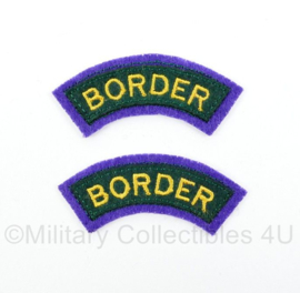 WO2 Britse leger Border Regiment Air Landing Brigade Shoulder title pair  - 6,4 x 2,5 cm