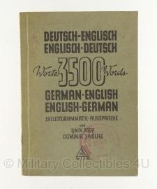 Duits-Engels, Engels-Duits vertaalboekje - 14,5 x 10,5 cm. origineel 1946