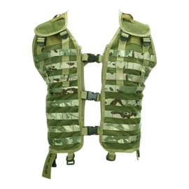 Tactical MOLLE vest zonder tassen - DTC Multicamo - verstelbare maat