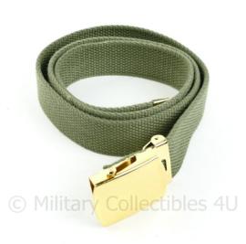 Koninklijk Marine Kazerne tenue broekriem groen - 150 cm lang - origineel