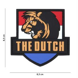Embleem 3D PVC met klittenband - The Dutch Lion - met klittenband - 8,5 x 8,5cm.