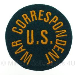 WO2 US Army War Correspondent embleem - 8,4 x 8,4 cm