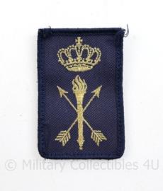 Koninklijke Marine dienstvak onderscheidingsteken Dienstgroep Technische dienst - model tot 2014 - met klittenband - 8 x 5 cm - origineel