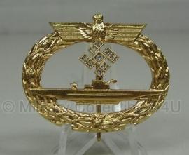 U boot Abzeichen in goud met diamanten