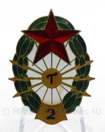 Bulgaarse insigne - afmeting 3 x 4,5 cm - origineel